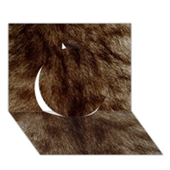 Silber Tiger Fur Circle 3d Greeting Card (7x5)  by timelessartoncanvas