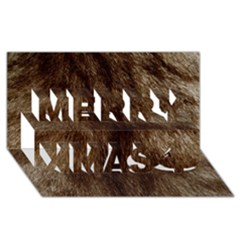 Silber Tiger Fur Merry Xmas 3d Greeting Card (8x4)  by timelessartoncanvas