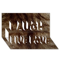 Silber Tiger Fur Laugh Live Love 3d Greeting Card (8x4)  by timelessartoncanvas