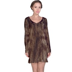 Silber Tiger Fur Long Sleeve Nightdress by timelessartoncanvas