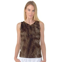 Silber Tiger Fur Women s Basketball Tank Top by timelessartoncanvas