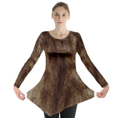 Silber Tiger Fur Long Sleeve Tunic  by timelessartoncanvas