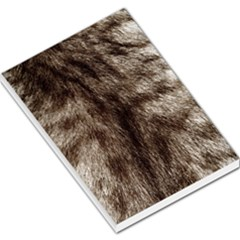 Black And White Silver Tiger Fur Large Memo Pads
