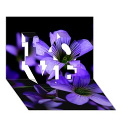 Springtime Flower Design Love 3d Greeting Card (7x5)  by timelessartoncanvas