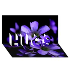 Springtime Flower Design Hugs 3d Greeting Card (8x4)  by timelessartoncanvas