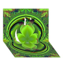 Green Clover Apple 3d Greeting Card (7x5)  by Delasel