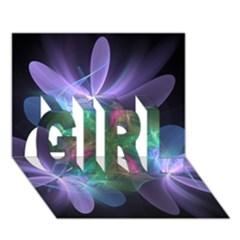 Ethereal Flowers Girl 3d Greeting Card (7x5)  by Delasel