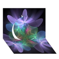 Ethereal Flowers Circle 3d Greeting Card (7x5)  by Delasel