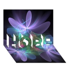 Ethereal Flowers Hope 3d Greeting Card (7x5)  by Delasel