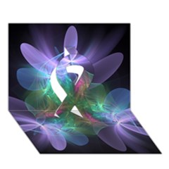 Ethereal Flowers Ribbon 3d Greeting Card (7x5)  by Delasel