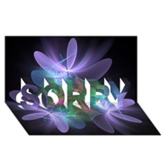 Ethereal Flowers Sorry 3d Greeting Card (8x4)  by Delasel