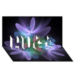 Ethereal Flowers Hugs 3d Greeting Card (8x4)  by Delasel