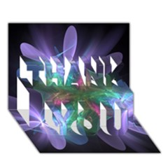 Ethereal Flowers Thank You 3d Greeting Card (7x5)  by Delasel