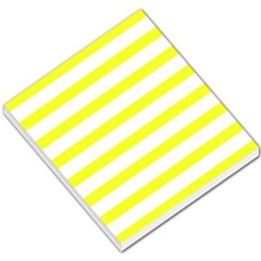 Bright Yellow And White Stripes Small Memo Pads by timelessartoncanvas