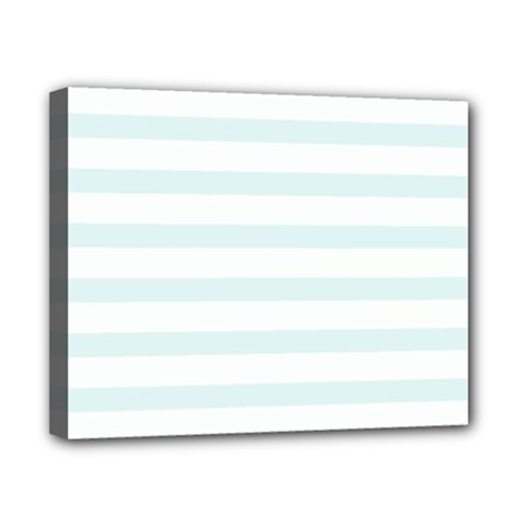 Baby Blue And White Stripes Canvas 10  X 8  by timelessartoncanvas