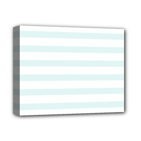 Baby Blue And White Stripes Deluxe Canvas 14  X 11  by timelessartoncanvas