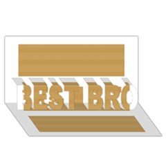Beige/ Brown And White Stripes Design Best Bro 3d Greeting Card (8x4)  by timelessartoncanvas
