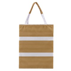 Beige/ Brown And White Stripes Design Classic Tote Bag by timelessartoncanvas