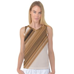 Metallic Brown/neige Stripes Women s Basketball Tank Top by timelessartoncanvas