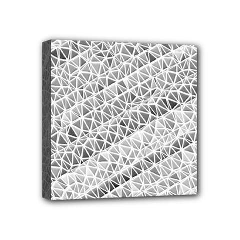 Silver Abstract And Stripes Mini Canvas 4  X 4  by timelessartoncanvas