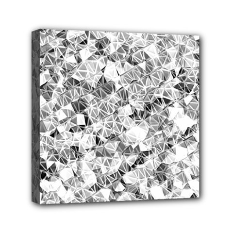 Silver Abstract Design Mini Canvas 6  X 6  by timelessartoncanvas