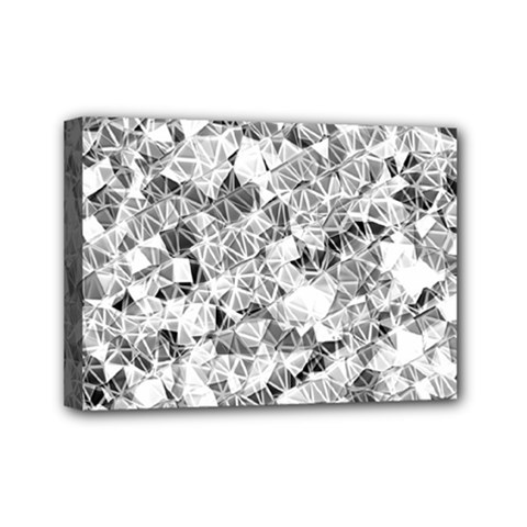 Silver Abstract Design Mini Canvas 7  X 5  by timelessartoncanvas