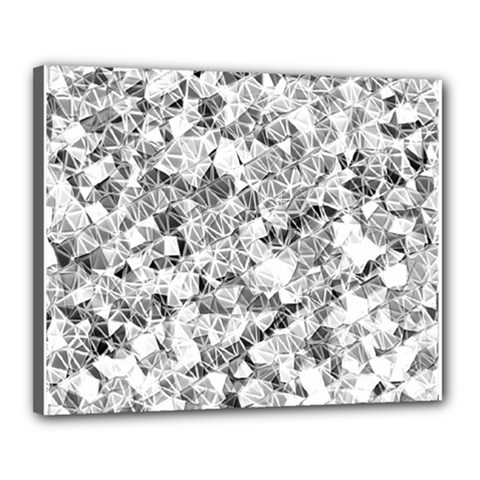 Silver Abstract Design Canvas 20  X 16  by timelessartoncanvas