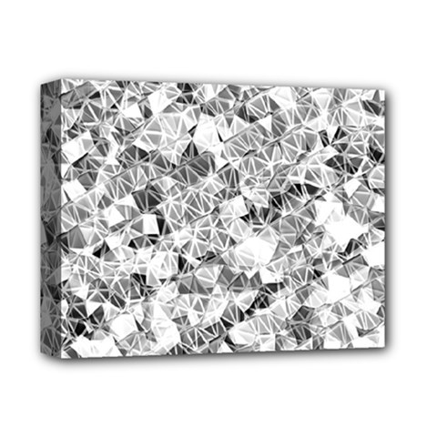 Silver Abstract Design Deluxe Canvas 14  X 11  by timelessartoncanvas