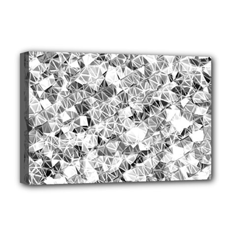 Silver Abstract Design Deluxe Canvas 18  X 12   by timelessartoncanvas