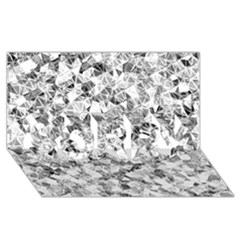 Silver Abstract Design Sorry 3d Greeting Card (8x4)  by timelessartoncanvas