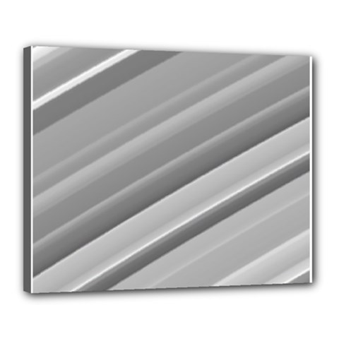 Elegant Silver Metallic Stripe Design Canvas 20  X 16  by timelessartoncanvas