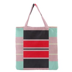 Rectangles In Retro Colors  Grocery Tote Bag