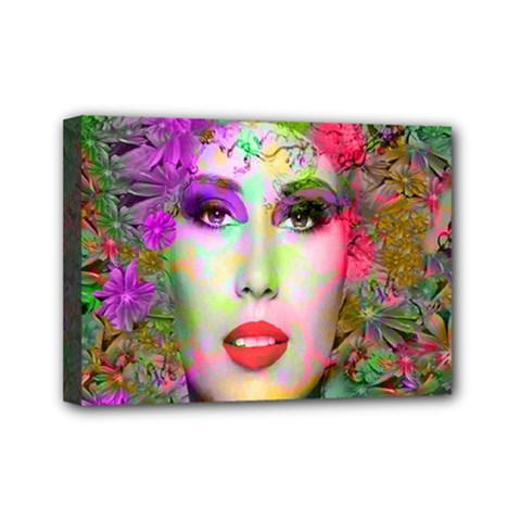 Flowers In Your Hair Mini Canvas 7  X 5  by icarusismartdesigns
