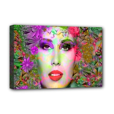 Flowers In Your Hair Deluxe Canvas 18  X 12   by icarusismartdesigns