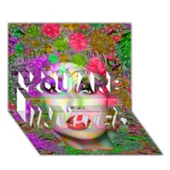 Flowers In Your Hair You Are Invited 3d Greeting Card (7x5)  by icarusismartdesigns