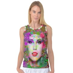 Flowers In Your Hair Women s Basketball Tank Top by icarusismartdesigns