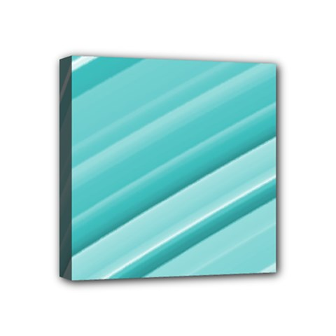Teal And White Fun Mini Canvas 4  X 4  by timelessartoncanvas