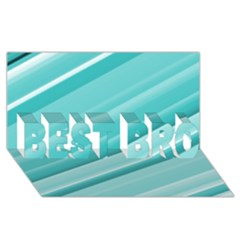 Teal And White Fun Best Bro 3d Greeting Card (8x4)  by timelessartoncanvas