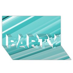 Teal And White Fun Party 3d Greeting Card (8x4)  by timelessartoncanvas