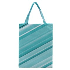 Teal And White Fun Classic Tote Bag by timelessartoncanvas