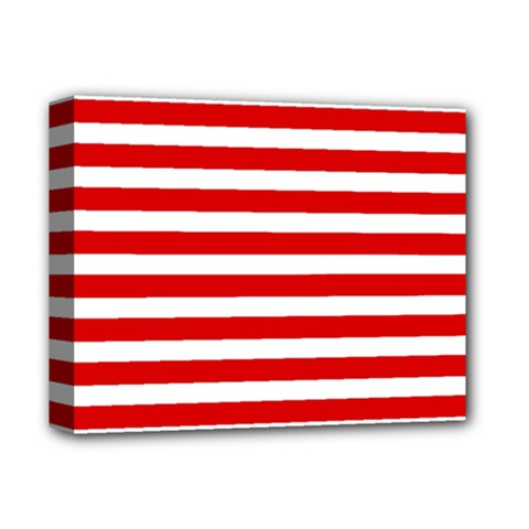 Red And White Stripes Deluxe Canvas 14  X 11  by timelessartoncanvas