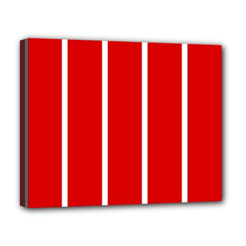 White And Red Stripes Deluxe Canvas 20  X 16   by timelessartoncanvas