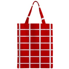 Red Cubes Stripes Zipper Classic Tote Bag by timelessartoncanvas