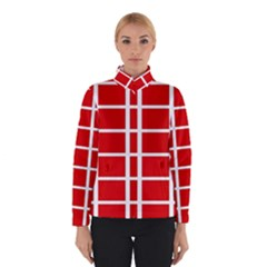 Red Cubes Stripes Winterwear by timelessartoncanvas