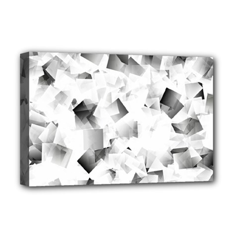 Gray And Silver Cubes Abstract Deluxe Canvas 18  X 12   by timelessartoncanvas