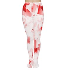Modern Red Cubes Women s Tights