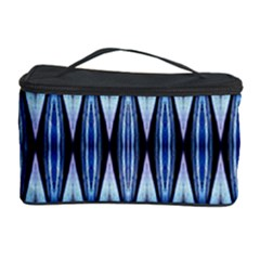 Blue White Diamond Pattern  Cosmetic Storage Cases
