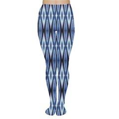 Blue White Diamond Pattern  Women s Tights by Costasonlineshop