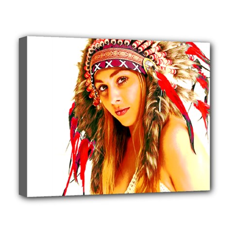 Indian 26 Deluxe Canvas 20  X 16   by indianwarrior