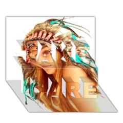 Indian 27 Take Care 3d Greeting Card (7x5)